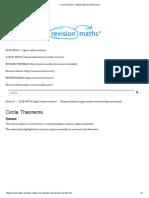 Circle Theorems - Mathematics GCSE Revision