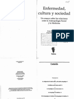 Comelles y Otrs Enfermedad Cultura y Sociedad LIBRO