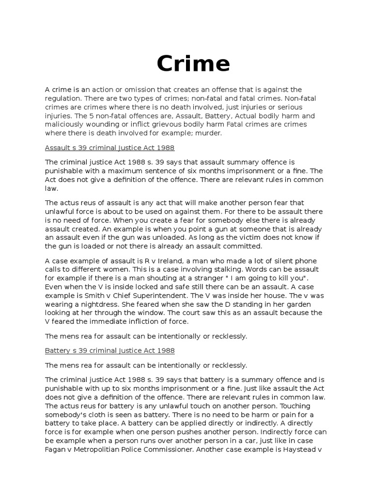 examples of criminal law offenses