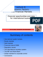 BUS1001 Lecture 7 - Economic Factors and the Financial Markets