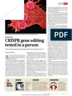 CRISPR gene-editing tested in a person for the first time