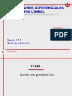 MA264 2016-2 Sesión 13.1 Serie de potencias