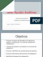 Taller Ayudas Auditivas Modulo 6 Proceso de Seleccion