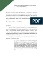 Allan and Karbowski on the Method Quasi-mathematical