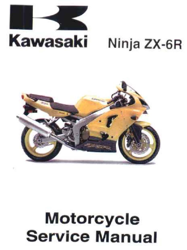 kawasaki zx6r 00 02 manual rh scribd com 2000 Kawasaki 600 Ninja Kits Purple 2002 Kawasaki Ninja ZX6R