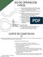 Curso Tecnicas Operacion Motoniveladoras Giros Cortes Nivelacion Desgarrador Escarificador Curvas Zanjas Cuneta Berma