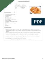 Arroz Con Salchichas Fácil, Rápido y Delicioso