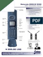 Iridium 9500 Telefono Satelital