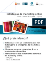 Ponencia Estrategias de marketing Online