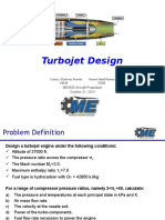 turbojet engine design