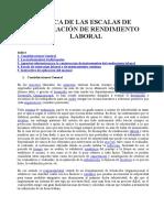 Acerca de Las Escalas de Valoración de Rendimiento Laboral