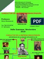 Bolívar Como Conductor de La Empresa Emancipadora
