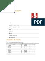 Información De la Seleccion Peruana de Futbol