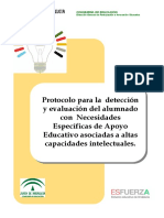 Protocolo para la identificación del alumno con necesidades especiales