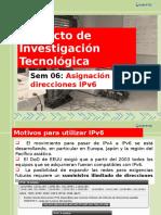 Direccionamiento en IPV6