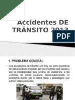 Accidentes de Tránsito 2013