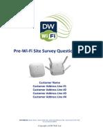 Wi-Fi Site Survey Questionnaire