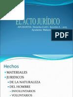 Acto Juridico - Ayudantia 2015