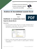 Analisis de Sensibilidad Usando Excel Solver