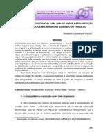 TRABALHO E EXCLUSÃO SOCIAL UMA ANÁLISE SOBRE A PRECARIZAÇÃO DO TRABALHO DA MULHER NEGRA NO MUNDO DO TRABALHO