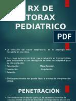 Rx de Torax Pediatrico