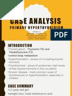 Case Ana - CC - Primary Hyperthyroidism