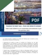 Tramway de Rabat Sale –Table Ronde Codatu 30092015