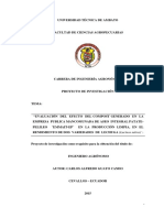 EVALUACIÓN    DEL    EFECTO DEL COMPOST GENERADO    EN    LA  EMPRESA PUBLICA MANCOMUNADA DE ASEO INTEGRAL PATATE-PELILEO    ¨EMMAIT-EP¨    EN LA  RODUCCIÓN LIMPIA,  EN EL   RENDIMIENTO DE DOS VARIEDADES DE  LECHUGA (Lactuca sativa)