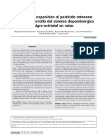 efecto de plaguicida rotenona (ROT) en ratas