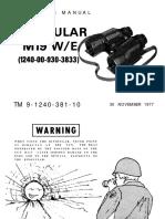 TM-9-1240-381-10 Binocular M19 W/E Operators Manual