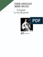 arnauld et nicole la logique de port royale.pdf