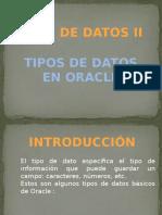 Tipos de Datos en Oracle (1)