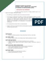 Instructivo Para Proyectos - UCE