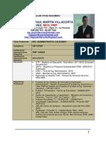 CV Resumido (Ing Paul Villacorta)