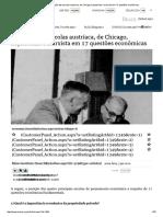 Mises Brasil - A Posição Das Escolas Austríaca, De Chicago, Keynesiana e Marxista Em 17 Questões Econômicas