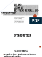 qualitative test for carbohydrates pdf
