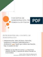 1.- Conceptos de Administración, Gestión y Gerencia En