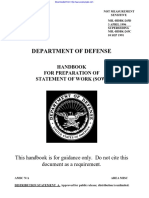 US Department of Defense (DoD) Handbook for Preparation of Statement of Work (SOW) MIL-HDBK-245D