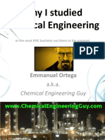 Why I Studied Chemical Engineering