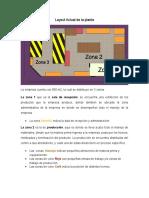 Layout Actual de La Planta empresa de vidrio y su descripccion
