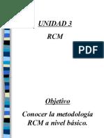 Unidad 3 RCM