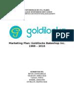 Marketing Plan for Goldilocks