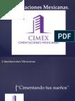 cimex - cimentaciones