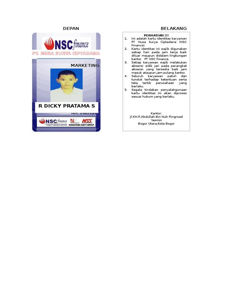 227176689 Id Card Nsc Finance Docx