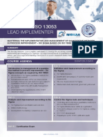 Iso 13053 Lead Implementer Four Page Brochure