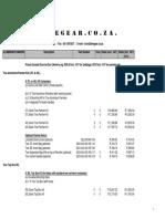 Aluminium Panniers Price List