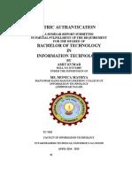 Amit Biometric Report
