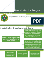 National Mental Health Program as of July 2016