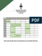 Jadwal Kuliah Teknik Arsitektur