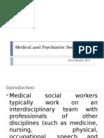 Medical and Psychiatric Social Work